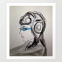 Spacegirl Art Print