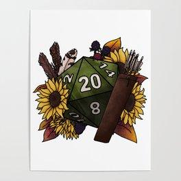 Ranger Class D20 - Tabletop Gaming Dice Poster