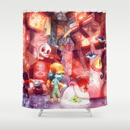 Spaceport Janitor Shower Curtain