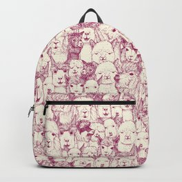 just alpacas cherry pearl Backpack