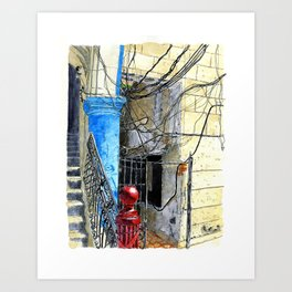 Wire and More Wires Art Print