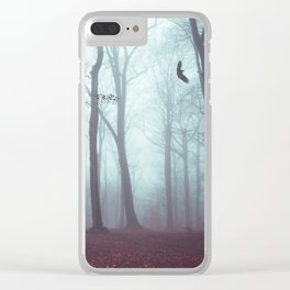 Solstice in Fog - Woodlands in Winter Mist Clear iPhone Case