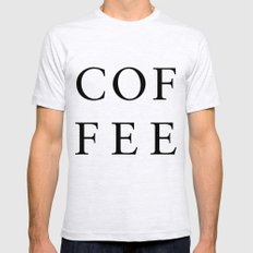 #COFFEE Mens Fitted Tee Ash Grey LARGE