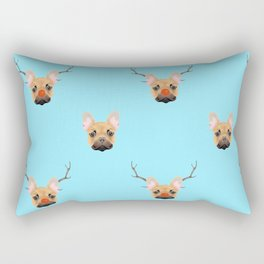 Rudolph the French Bulldog Rectangular Pillow