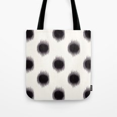 Ikat Dots Black and White Tote Bag