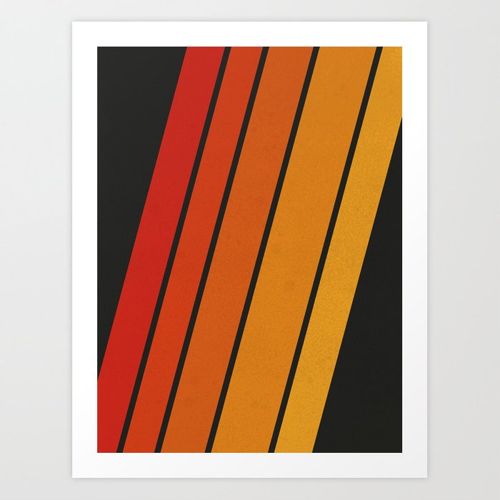 Retro 70s Stripes Art Print