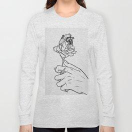 Flowery heart given. Long Sleeve T-shirt