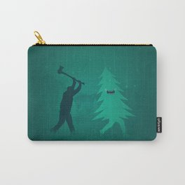 Funny Christmas Tree Hunted by lumberjack (Funny Humor) Carry-All Pouch