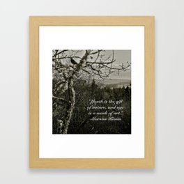 Youth Is A Gift Framed Art Print
