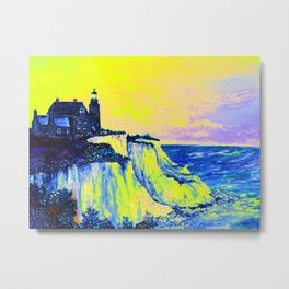 Neon Lighthouse Metal Print