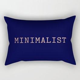 Dark Navy Blue and Copper Minimalist Typewriter Font Rectangular Pillow