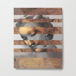 "Leonardo's ""Head of a Woman"" & Marylin Monroe Metal Print"