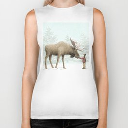Winter Moose Biker Tank