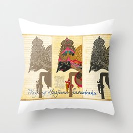 Harjuna Sasrabahu Throw Pillow