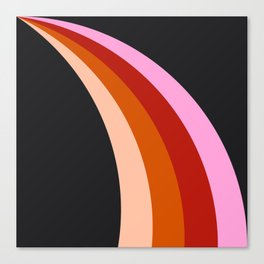 Retro Rainbow Stripes Canvas Print
