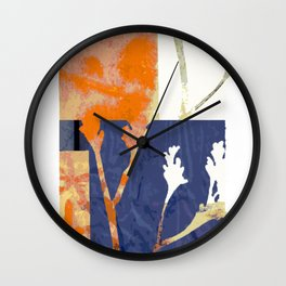 botanical collage 01 Wall Clock