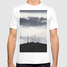 Gloom White SMALL Mens Fitted Tee