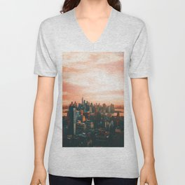 Sunset City (Color) Unisex V-Neck