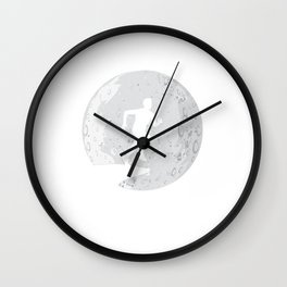 Cliff Jumping Moon Cliff Diving Extreme Sports Gift Wall Clock