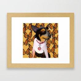 Sadie butterfly Framed Art Print
