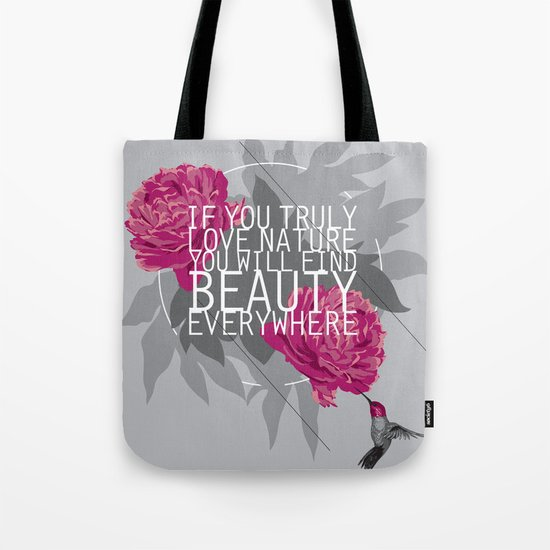 Finding Beauty Tote Bag