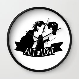 alt er love Wall Clock