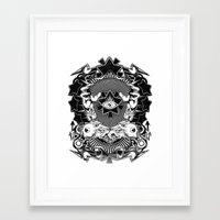 all seeing eye Framed Art Prints featuring All seeing eye by Tshirt-Factory