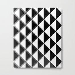 Aztec 3 B&W Metal Print