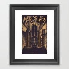 Metropolice Framed Art Print