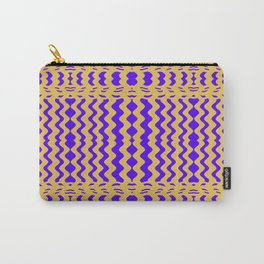 Bright Purple Yellow Wavy Lines Carry-All Pouch