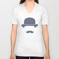 gentleman V-neck T-shirts featuring Gentleman by Jacob Wise