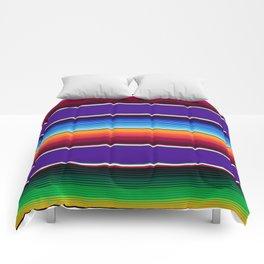 Traditional Mexican Serape in Purple Comforters