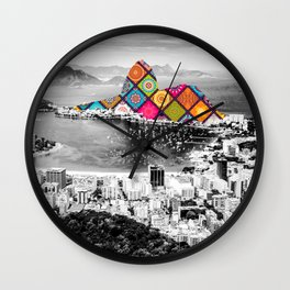 Funky Landmark - Rio Wall Clock