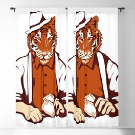 Tiger Poker Face Blackout Curtain