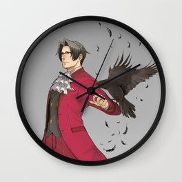 Fake Poster Miles Edgeworth: Ace Attorney Wall Clock