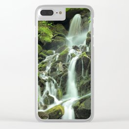 Smoky Mountains Waterfall 2 Clear iPhone Case