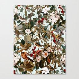 Floral and Birds XXVII Canvas Print