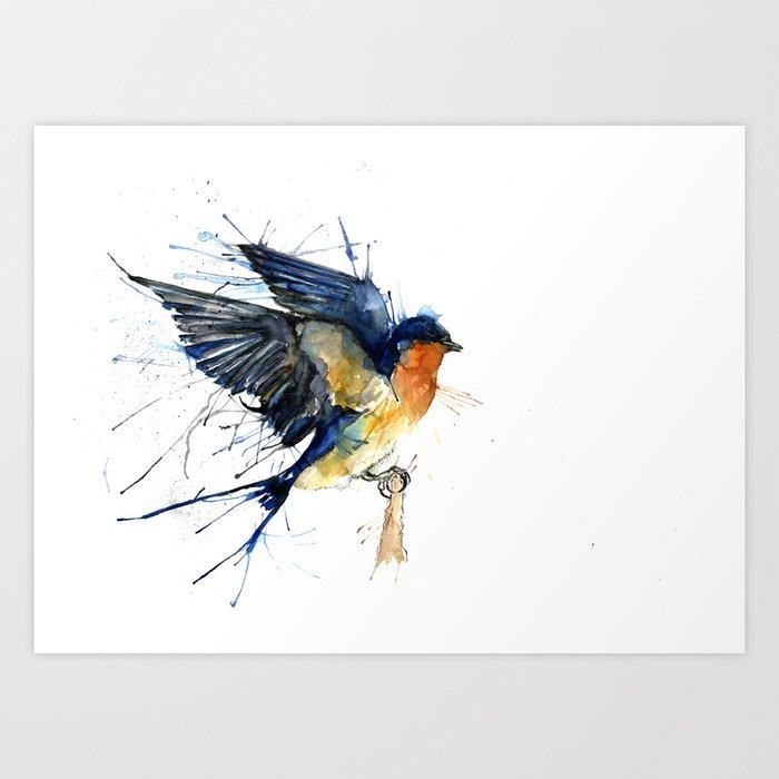 Swallow 3 Art Print By Meganashford  Society6-3643