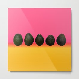 Avocados on Tequila Sunrise Metal Print