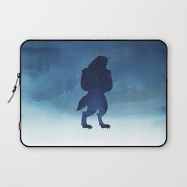 Beast Silhouette - Beauty and the Beast Laptop Sleeve