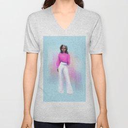 Fashion Sketch no 5 Unisex V-Neck