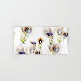 Seamless Watercolor Arum Calla Lilies Hand & Bath Towel