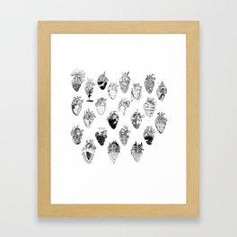 The Anatomy of a Heart Pattern Framed Art Print