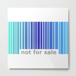 Not For Sale Barcode - Blues Metal Print