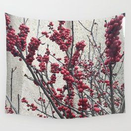 Winterberry Love Wall Tapestry