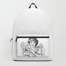 TWO FACED WOMAN Abstract Art Backpack