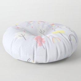 Roller skating kitties Floor Pillow