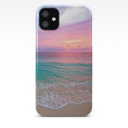 Aerial Photography Beautiful: Turquoise Sunset Relaxing, Peaceful, Coastal Seashore iPhone Case