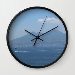 Naples views Wall Clock