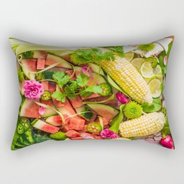 Late Summer Harvest Rectangular Pillow